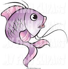 clip art of a purple koi fish jumping by lal perera 1450