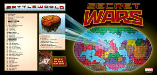 Secret Map Marvel Releases Full Map Of Secret Wars U0027 Battleworld