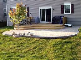 Composite Patio Pavers by Paver Patio U0026 Deck Combination I Love That The Edge Is Round No