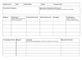 unit study lesson plan template new 2 homeschooling training word