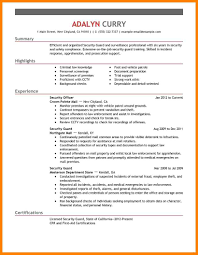 security officer resume ideas collection security guard resumes exles fantastic bank