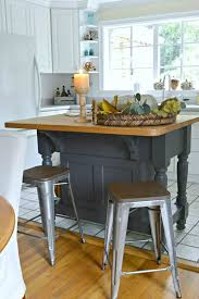 easy kitchen island an easy kitchen island makeover using benjamin moore wrought iron