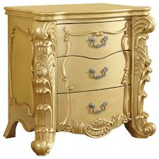 Gold Bedside Table Zelda Gold Night Stand Victorian Nightstands And Bedside