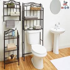 Wall Shelf Bathroom Bathroom Storage Over Toilet Realie Org