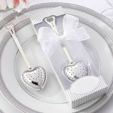 bridal shower favor heart spoon tea infuser filter wedding souvenir bridal shower