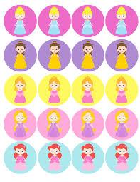 instant download printable disney princess cupcake toppers favor cupcake toppers for your princess party