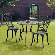 Tesco Bistro Chairs Buy Suntime Sussex Black Cast Aluminium Bistro Set From Our Metal