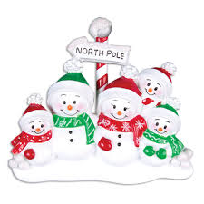 ornaments snowman family of 5 ornament