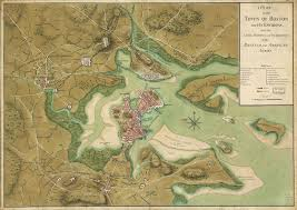 Boston Visitor Map by 1776 Map Of Boston And Surrounding Areas During The Siege Of