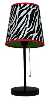 limelights lt3000 zba fun prints table lamp black zebra