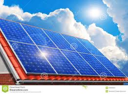 House Technology by Solar Panels On House Roof Stock Photo Image 34209020