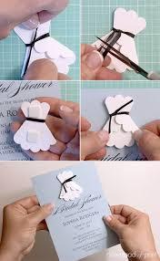 diy bridal shower invitations 3d paper wedding dress shower invitation