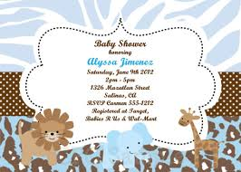 safari baby shower invitations templates