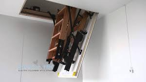skylark electric foldaway remote control attic stairs youtube