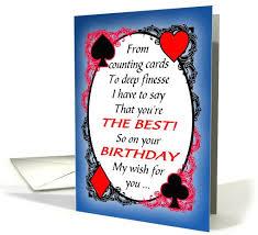 bridge player or partner funny birthday card 1102944 bridge