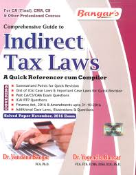 comprehensive guide indirect tax law quick referencer compiler