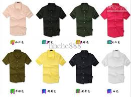 2017 2015 summer men u0027s casual shirts short sleeve candy color