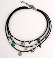 necklace with charms images Evil eye amulets leather evil eye charms necklace amulets jpg