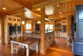 Log Home Kitchen Cabinets - top 6 log home kitchen trends for 2016 confederation log