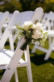 Aisle Markers Ceremony Décor Photos White Rose Aisle Markers On Chairs