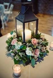 White Lantern Centerpieces by White Lantern And Hydrangea Centerpiece Botanika Wedding Floral
