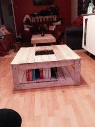 Pallet Coffee Tables Diy Pallet Coffee Table With Planter Box Inlay