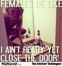 Females Be Like Meme - females in the bathroom be like meme pmslweb