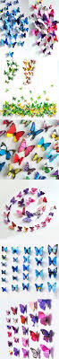 12pcs pvc 3d butterfly wall decor butterflies wall stickers
