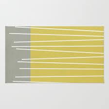 Mid Century Modern Rugs Mid Century Modern Textured Stripes Rug By Michelledrew Society6