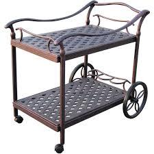Best Cast Aluminum Patio Furniture - darlee cast aluminum patio tea cart antique bronze ultimate patio
