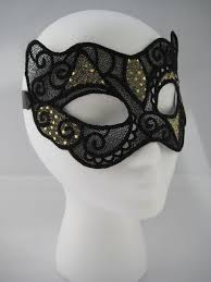 hand crafted black gold lace masquerade mask by miss adenine