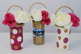 jar centerpieces for baby shower this light jar baby shower centerpiece