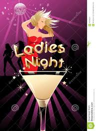 pink martini poster ladies night poster stock vector image of vector party 40238521