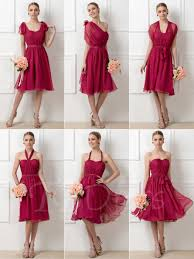 bridesmaid dresses a line ruched convertible knee length bridesmaid dress tbdress