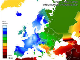 Map Of The Middle East And Europe by How Inbred Are Europeans Jayman U0027s Blog