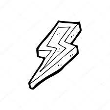 cartoon lightning bolt sketch coloring page