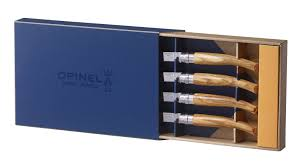 opinel steak knives set of 6 3 different types gift boxed