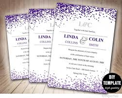 purple wedding invitations creative wedding invitation template confetti wedding invitation