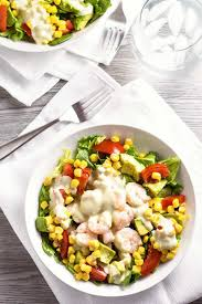 shrimp salad with creamy pesto dressing homemade hooplah