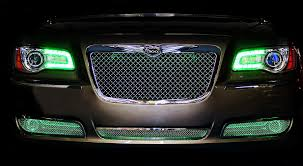 chrysler grill chrysler 300 halos multi color mr kustom auto accessories and