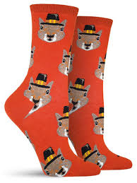 saying thank you with thanksgiving socks sock drawer