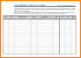 Sign In Out Sheet Template Equipment Sign Out Sheet Template Equipment Sign Out Sheet Png
