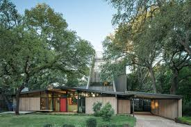 eichler style exterior midcentury with floor to ceiling windows