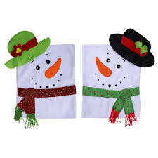 snowman chair covers 1pc christmas snowman chair covers chrismas decorations for home
