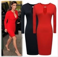 on sale women fashion casual dress long sleeve