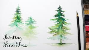 lvl3 how to paint a pine tree in watercolor