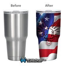 American Flag Skull American Flag Skull With Guns 30 Oz Tumbler Full Wrap U2013 My Loud