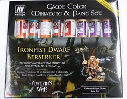 vallejo game colour set ironsfist dwarf berserker 8 colors