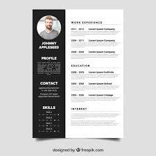 Classy Resume Template Elegant Resume Template Vector Free Download