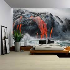 wall26 com art prints framed art canvas prints greeting wall26 red hot lava from kilauea volcano on the big island of hawaii removable wall mural self adhesive large wallpaper 66x96 inches